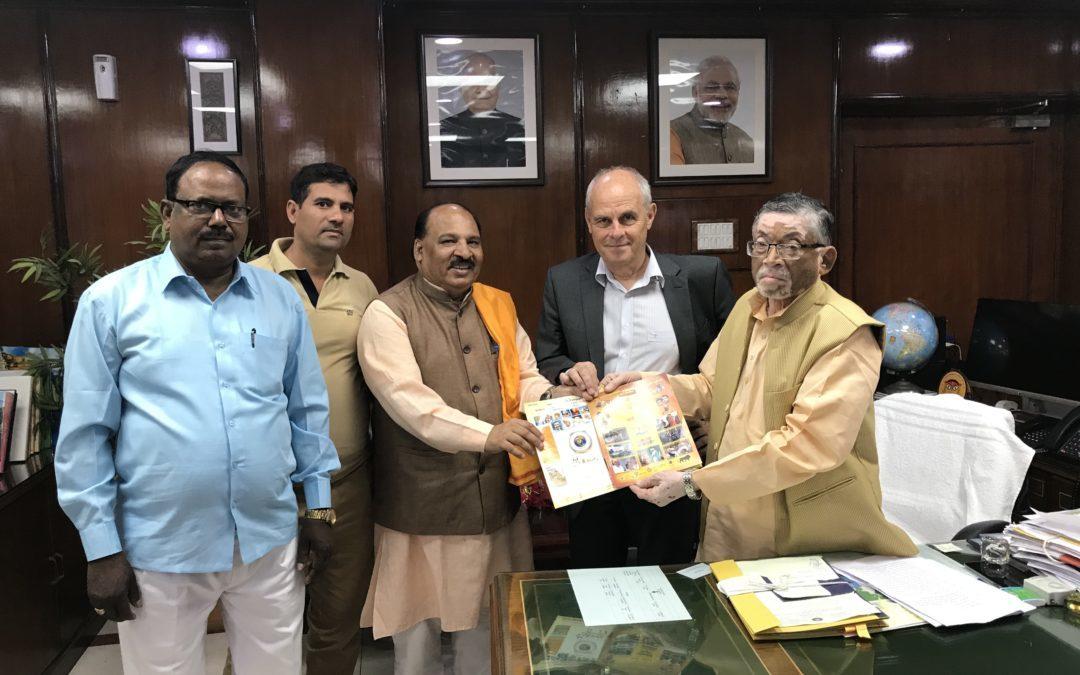 Treffen mit Vertretern der indischen Regierung